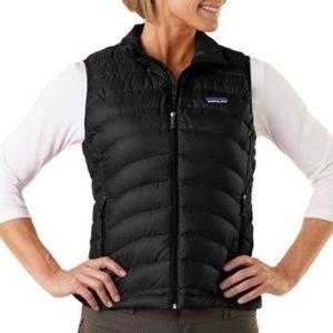 Patagonia Women's Down Sweater Vest Sz M In Black